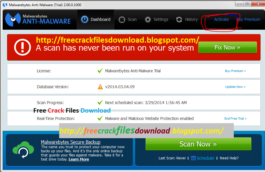 Malwarebytes Anti-Malware Premium 2.00.0.1000 Serial and User name