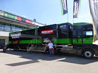 camion del equipo kawasaki en motorlan aragon