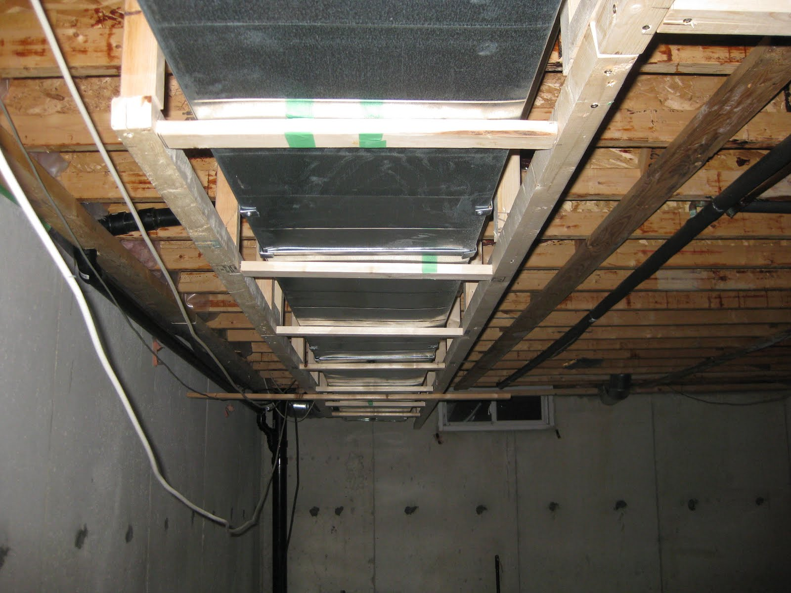 March 27 - 28 Ductwork framing started ! & Basement Project: March 27 - 28 Ductwork framing started !