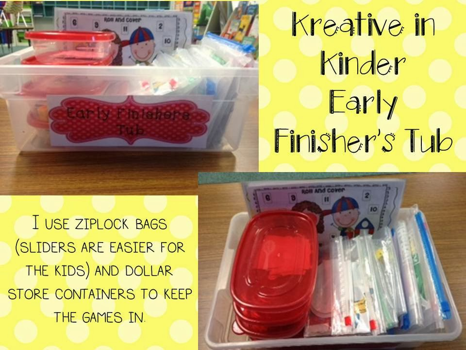 http://kreativeinkinder.blogspot.ca/2013/09/how-to-early-finisher-tubs.html