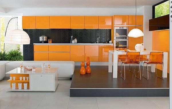 ديكور مطبخ برتقالي