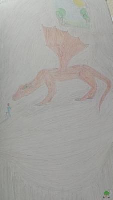 zły smok, rysunek 2