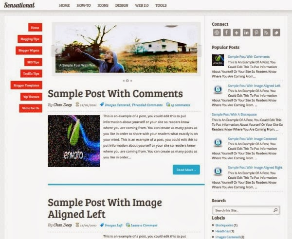 Download Sensational Blogger Template Free
