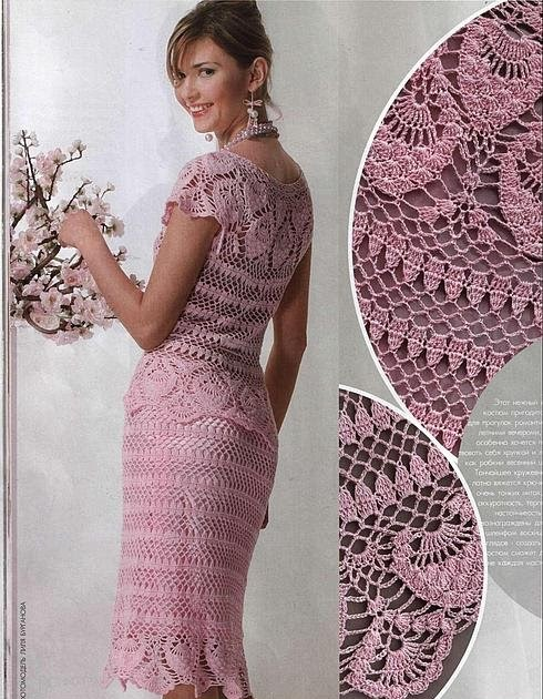 Crochet Models : Crochet dress model-Knitting Gallery