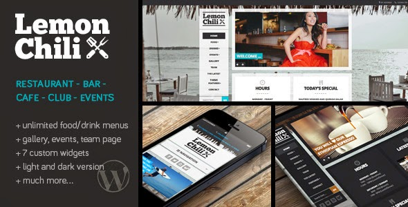 LEMONCHILI - A PREMIUM RESTAURANT THEMEFOREST WORDPRESS THEME