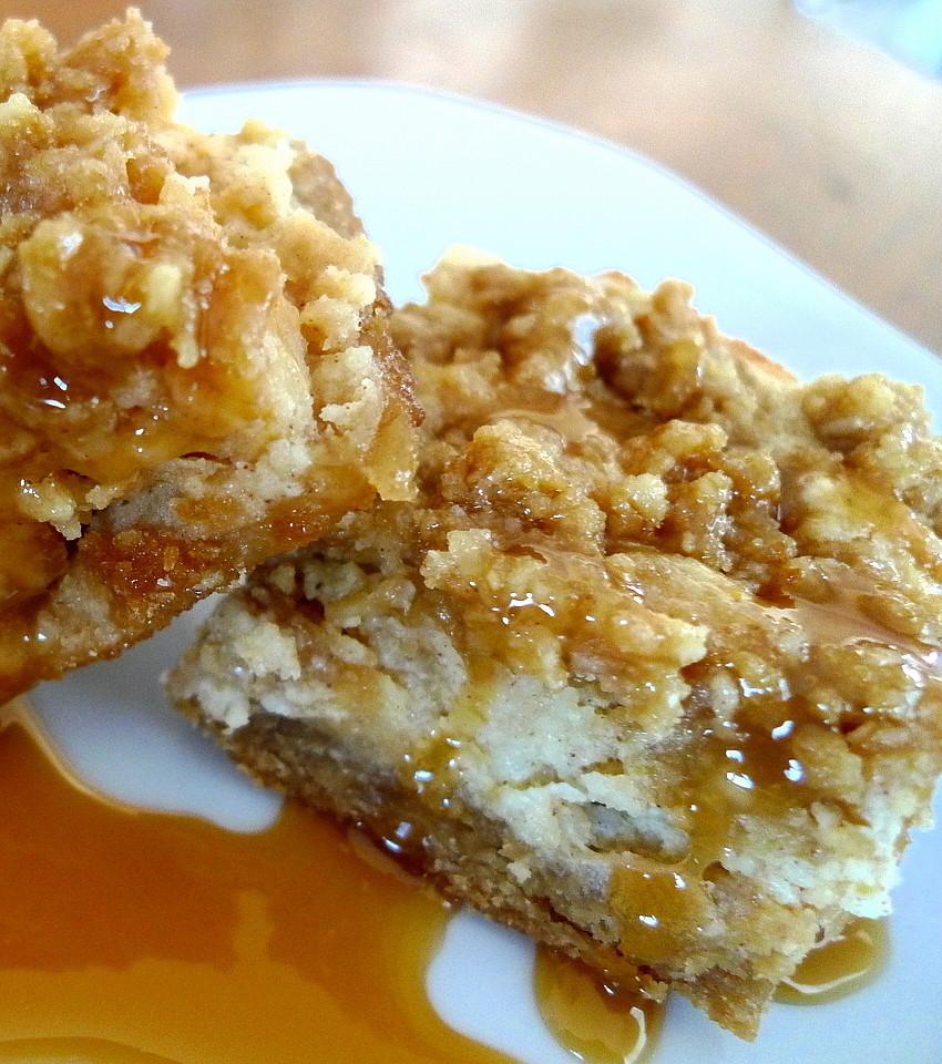 SWEET AS SUGAR COOKIES: Caramel Apple Cheesecake Bars