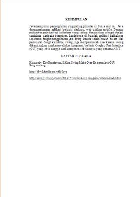 Jurnal Pembuatan Aplikasi Java