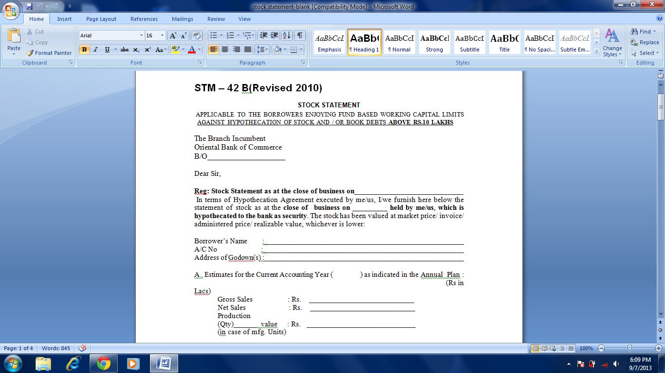 [Sample Application Letter Bank Guarantee] request letter
