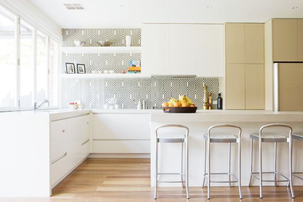 kitchen backsplash wallpaper kitchen with two toned cabinets white