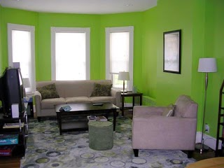 Kombinasi warna cat hijau abu-abu