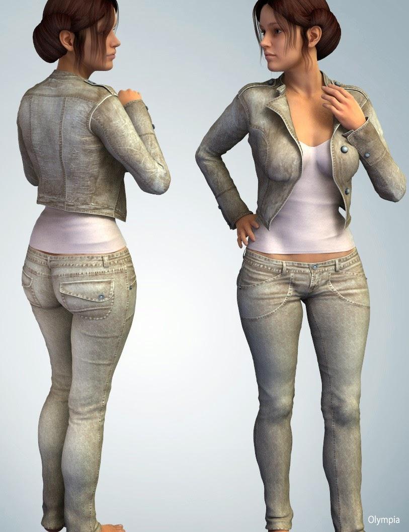 3d Models Art Zone - Hongyu's Cowgirl 3 for Genesis 2 Female(s)