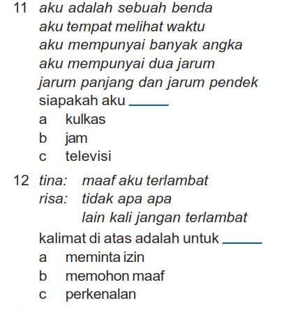 Soal Uas Ganjil B Indonesia Kelas 1 Sd Kumpulan Soal Ulangan