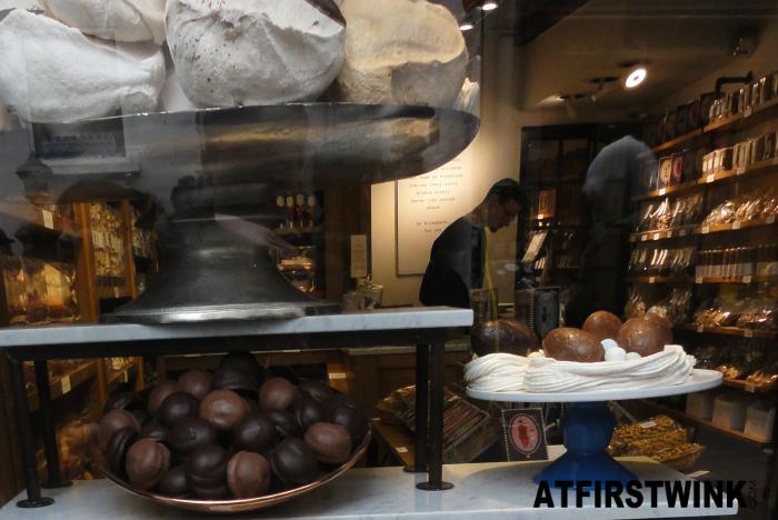 Elizabeth artisan Belgian Sweets store inside