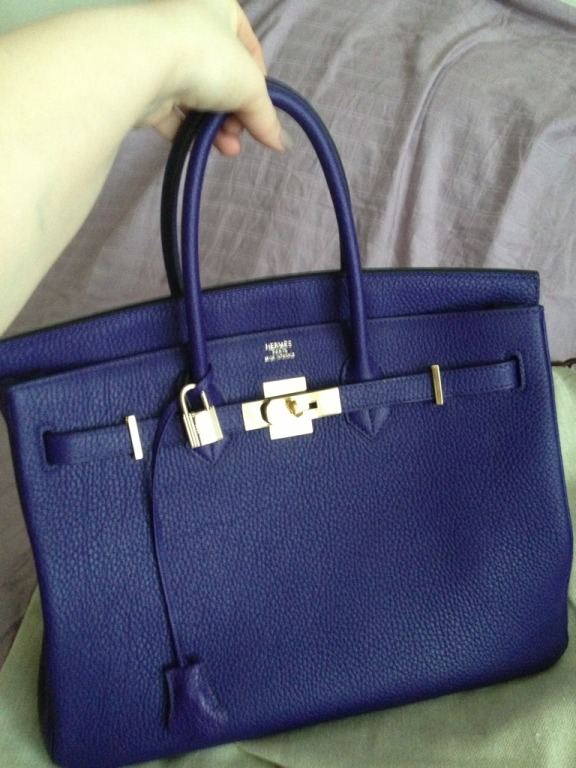 Purse Princess: Victoria\u0026#39;s Replica Hermes Birkin 35cm Togo Leather
