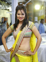 Aswi Glamorous Photos in Half Saree-cover-photo