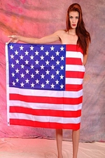 Alexandria shows her patriotism wearing nothing but an American Flag! Happy 4th of July! - Geek Girls Online