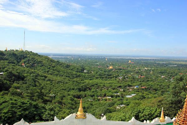 La ciudad de Sagaing en Myanmar
