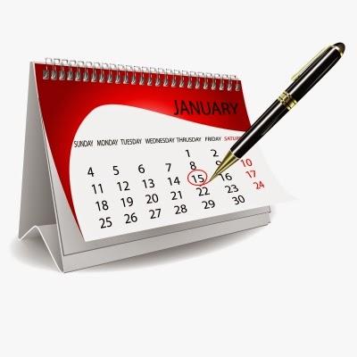 Aqui tem a imagem de um calendário