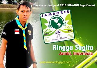 Ringga Sagita, pemenang kontes desain logo JOTA_JOTI 2015
