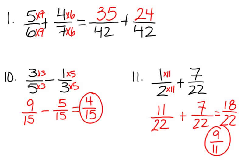 Adding and subtracting fractions homework help – Subtracting Fractions Worksheets with Answers