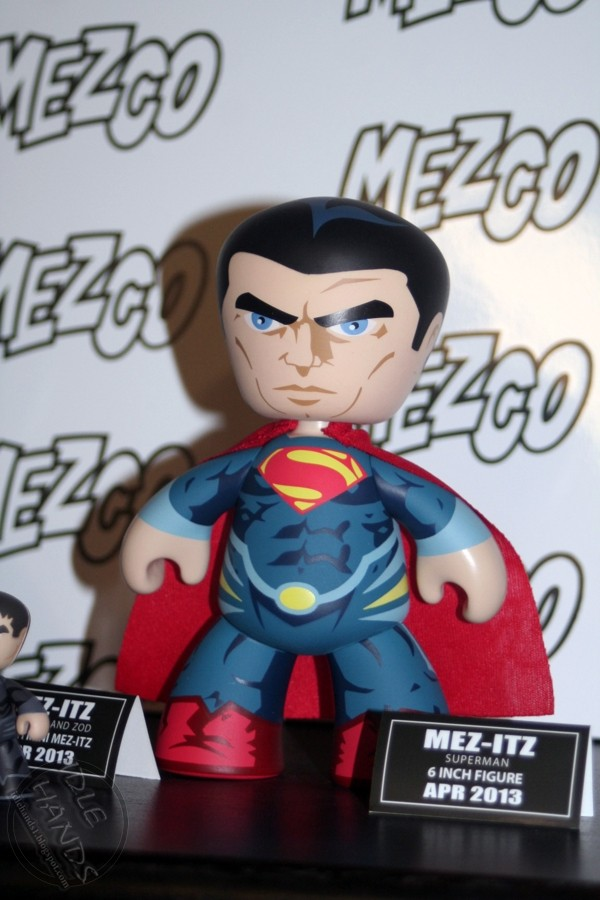 "MEZCO MINI MEZITZ MAN OF STEEL JOR-EL SUPERMAN /& GENERAL ZOD 2/"" TALL NEW"