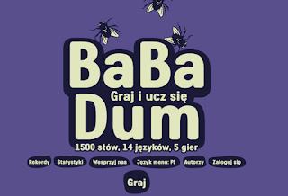 babadum.com, kurs słówek, kurs językowy, strona z nauką języka online, kurs języka gratis, bezpłatnie, gra językowa, język za darmo online, w internecie, babadum, nauka języka obcego, nauka słówek