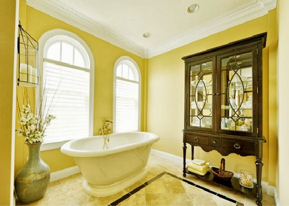 Cuartos De Baño Color Amarillo:Baños en color amarillo y marrón – Colores en Casa