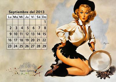 Calendario pin up 2013: Septiembre | Gil Elvgren