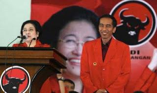 Foto Jokowi dan Megawati