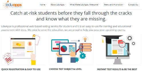 Picture of the Homepage Of EduApps
