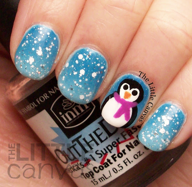 snowy manicure of