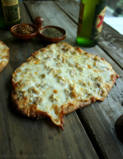 White Clam Flatbread Pizza