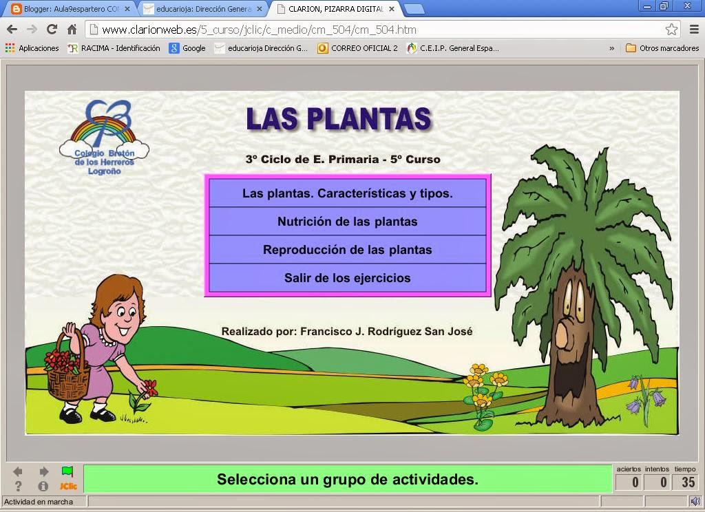Web Clarión . 5º primaria