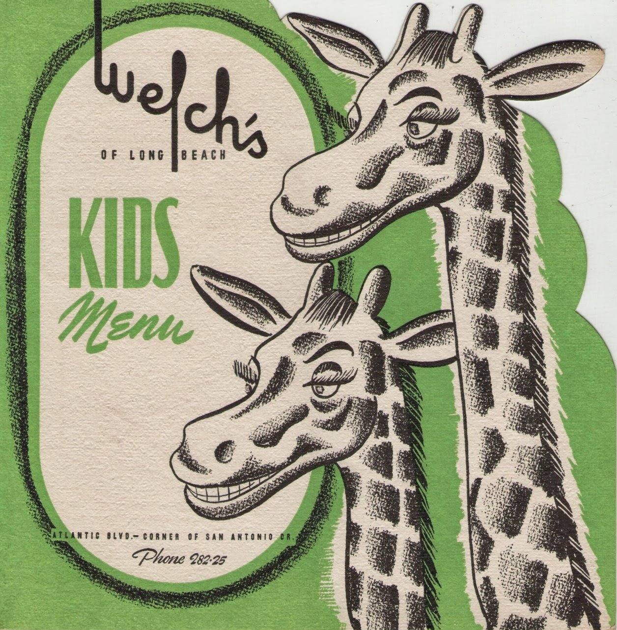 Vintage Welch's of Long Beach Kid's Menu via Brentwood Lane