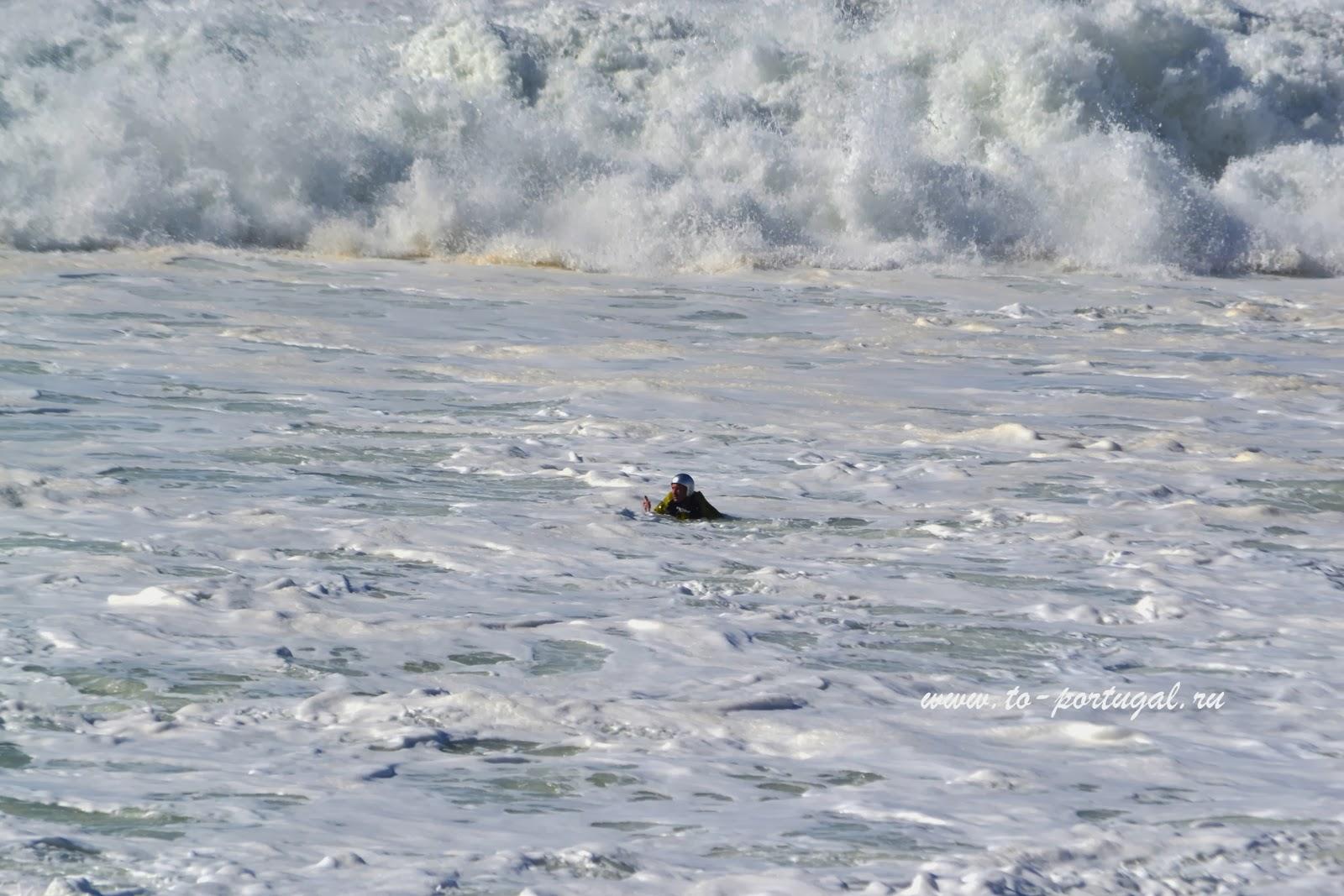 серфинг на больших волнах