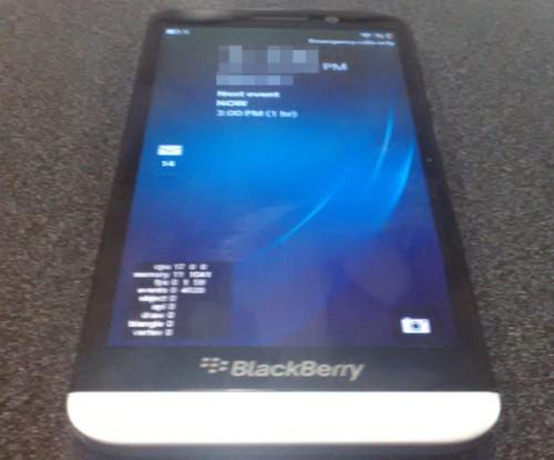 Svelata la prima immagine del BlackBerry A10 prossimo smartphone quad core da 5 pollici con sistema operativo 10 BB OS