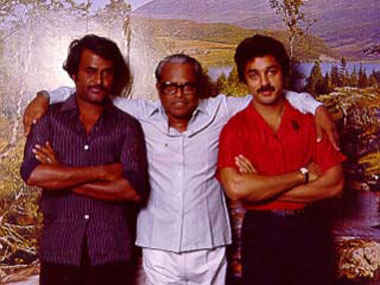 Duo with their Guru, Balachander.