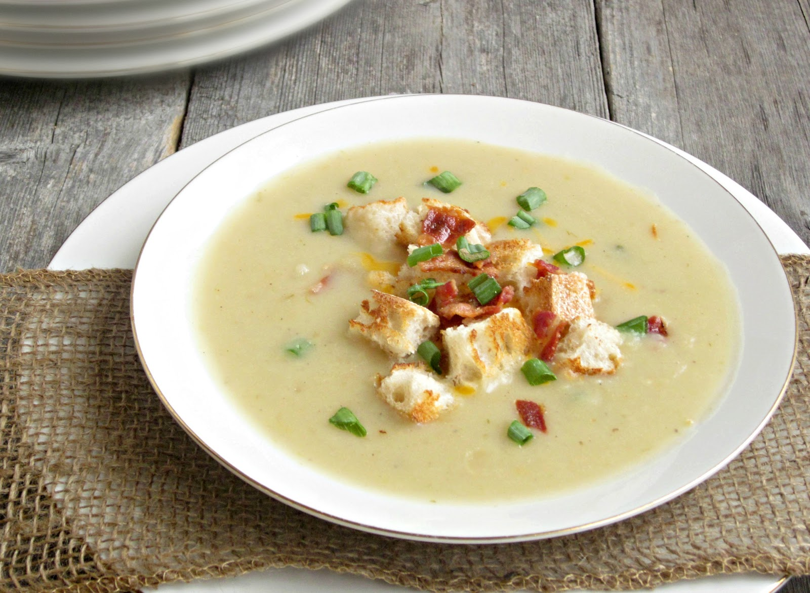 Hungry Couple: Creamy Potato and Leek Soup...and Hunkering ...