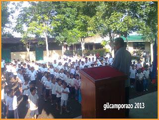 school principal instructing the pupils