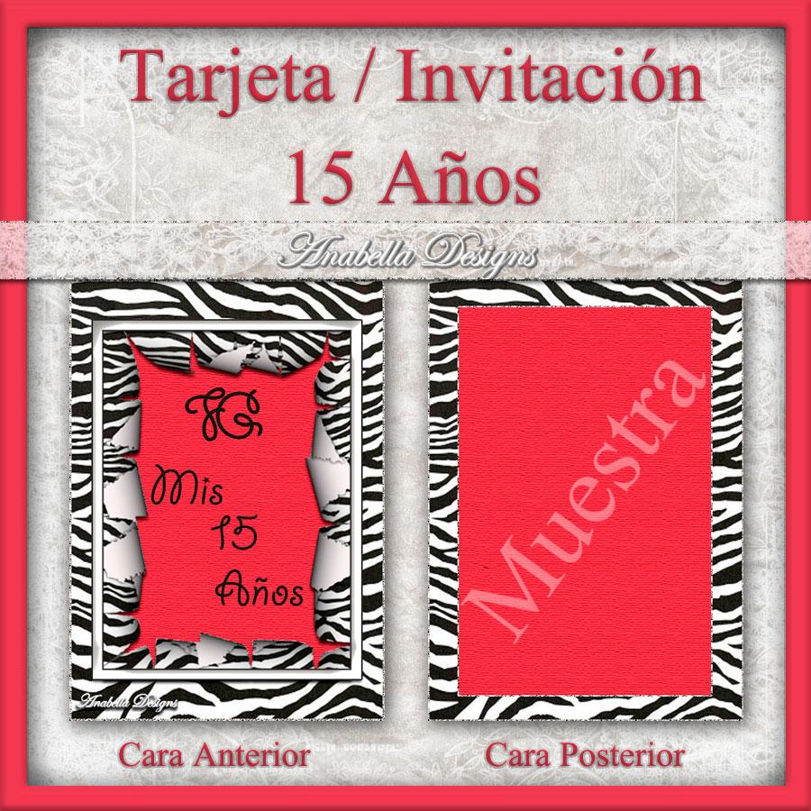 Fondos Anabella: Tarjetas / Invitaciones *15 Años