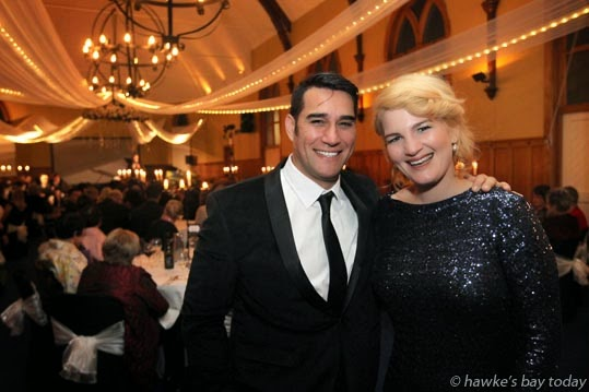 L-R: Phillip Rhodes, baritone, Anna Pierard, mezzo soprano, who performed at U-Turn Italian Style, a concert and auction in The Mission Estate Chapel at Mission Estate Restaurant, Taradale, Napier, in support of U-Turn Trust and Te Aranga Marae, Flaxmere, Hastings photograph