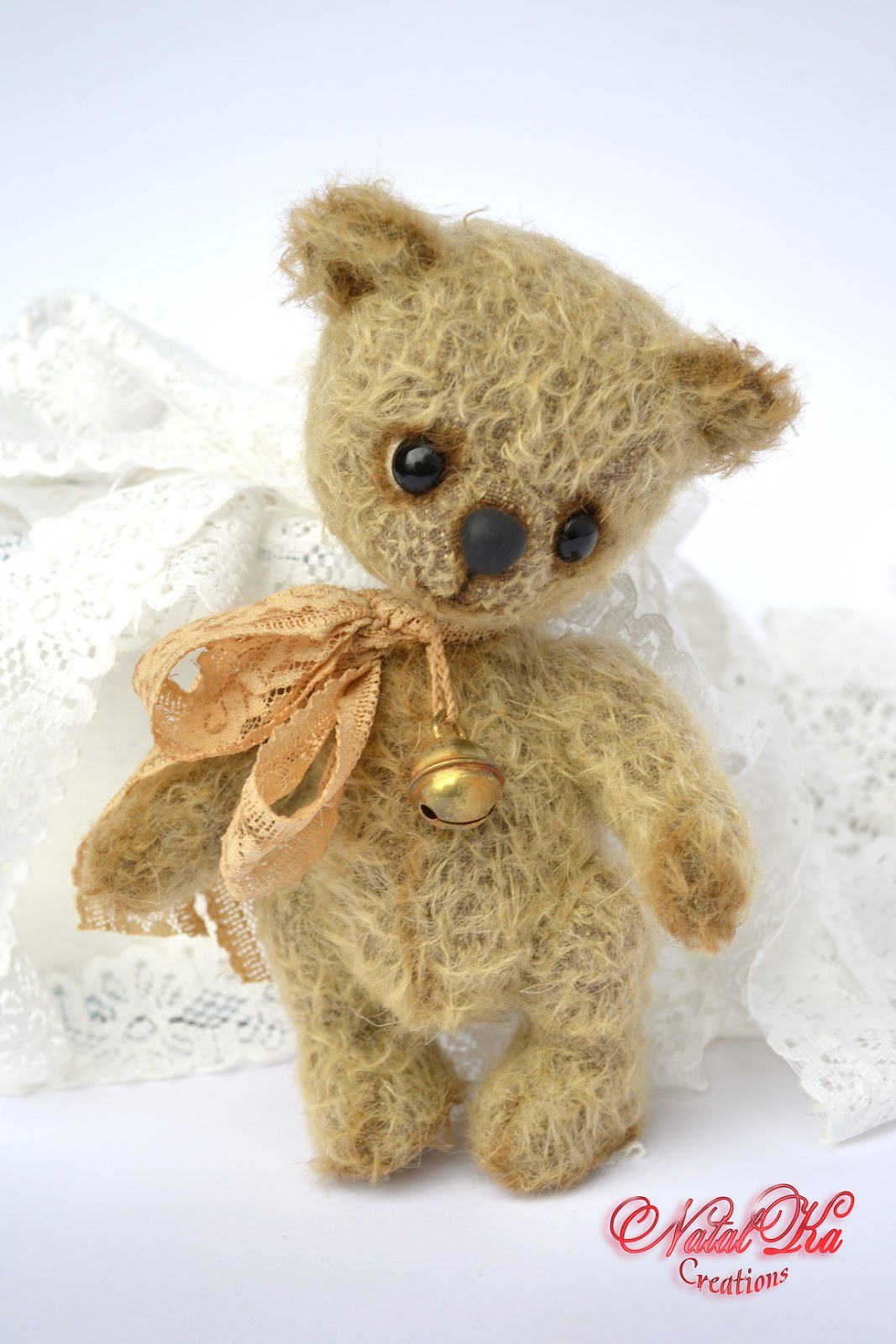 Artist teddy bear ooak mohair handmade by NatalKa Creations. Авторский мишка тедди в единственном экземпляре ручной работы от NatalKa Creations.