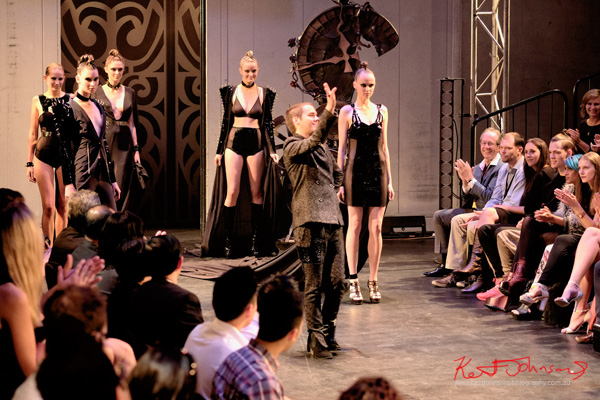 Will Brunton Takes a bow - Raffles College 2012 Graduate Fashion Show Carriageworks, Everleigh Sydney