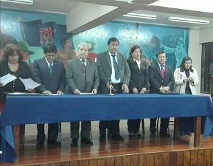 Presentación de la lista UNE PERU