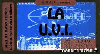 entrada de concierto de la u.v.i