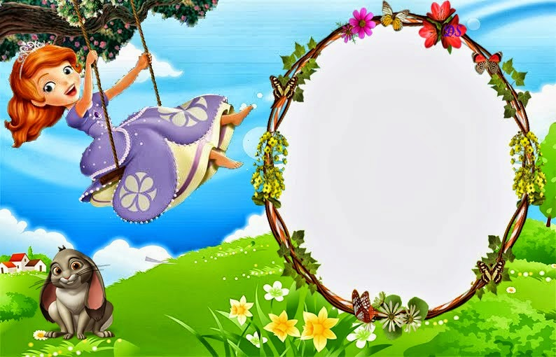 Sofia the First Free Printable Invitations or Photo Frames ...