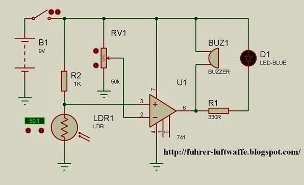 Circuito Operacional : Circuitos de electronica iluminacion leds opam
