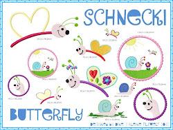 Schnecki & Butterfly Stickdatei