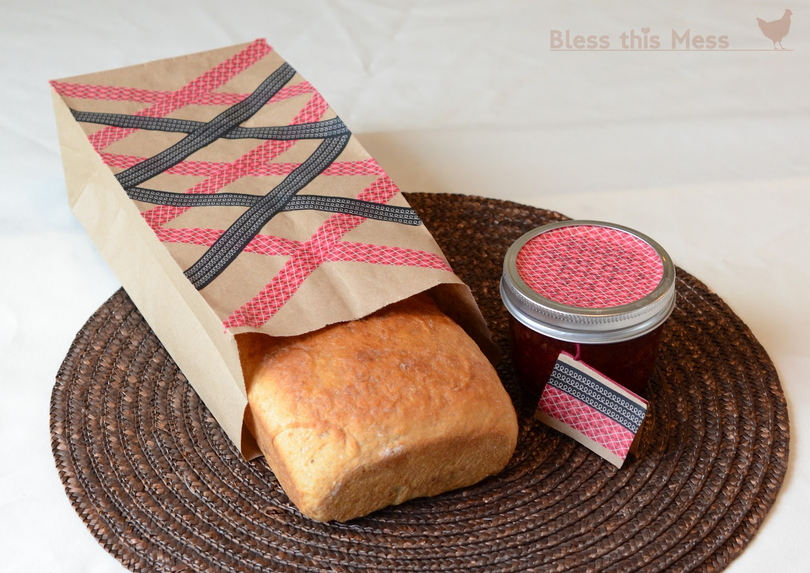 Washi tape canning lids and paper bags bless this mess washi tape craft ideas jeuxipadfo Choice Image