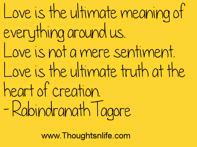 Thoughtsandlife: Love is the ultimate meaning of everything around us.